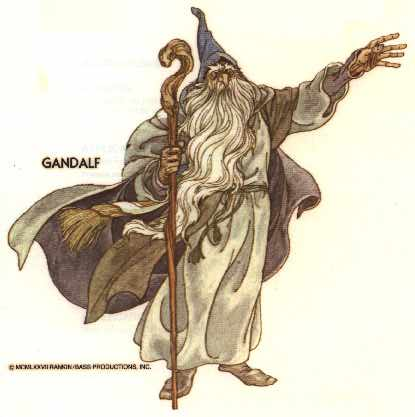Gandalf as a powerful character more connected with the fantastical Middle Earth world